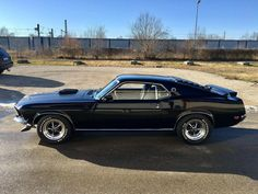 1969 Ford Mustang 428 Cobra Jet - Brought to you by Smart-e Mustang Mach 1, Ford Mustang 1969, Black Mustang, Classic Mustang, Ford Classic Cars, Mustang Cars, 1969 Mustang Fastback, Mustang Gt500, Vintage Mustang