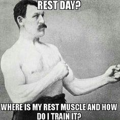 C'mon, you need at least 1 rest day. And in the even you're feeling under the weather, here's how to workout: ==> http://exerscribe.com/blog/?p=1836