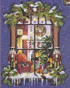 Gallery.ru / Janlynn # 023-0431 Christmas Window - Christmas Window - natalytretyak