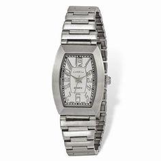 b97464d47eec Ladies Chisel Stainless Steel White Tonneau Dial Watch