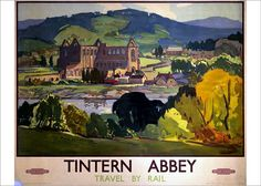 Vintage Transport Railway Rail Travel Poster Re Print Tintern Abbey 2 Nostalgia, Wall Art Prints, Poster Prints, British Travel, National Railway Museum, Railway Posters, Frames For Canvas Paintings, Cool Posters, Art Posters