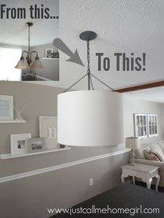 How to update a dining room light fixture for $20!