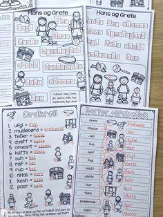 Støttemateriell for å arbeide med eventyr som tema, med fokus på språkopplæring i samme slengen! Eventyr er alltid gøy, og bakt inn i det kan man arbeide med bokstaver og lyder, stavelser, alfabetisering, silhuett-oppgaver som gir elevene trening i bokstavenes plassering, rimord. Eventyrene er: Hans og Grete, De tre bukkene bruse, Rødhette, Jack og bønnestengelen, Den lille røde høna, Gullhår og de tre bjørnene, Keiserens nye klær, Prinsessen på erten, Tre små griser, Askepott og flere! Discovery, Bullet Journal, Humor, Humour, Moon Moon, Jokes, Funny, Funny Jokes