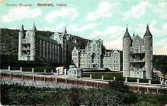 Montreal Quebec Canada 1908 Royal Victoria Hospital Antique Vintage Postcard