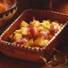This mild-flavored fruit chutney is a delicious accompaniment to a variety of grilled meats.