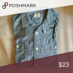 J.Crew Factory Chambray Work Shirt J.Crew Factory cotton Chambray Work Shirt in indigo J. Crew Factory Shirts Casual Button Down Shirts