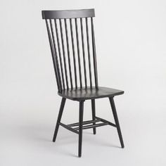 A tall take on traditional Windsor chairs, our slender chairs feature a high cap-railed spindle back that comfortably cups the body. A fantastic value, these solid wood chairs are ideal pulled up to the dining table, or as accent seating in any room of the home.