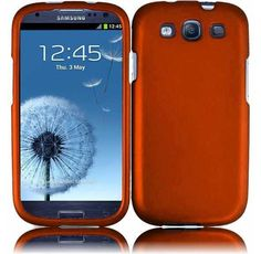 Awesome Tangerine Orange Hard Snap on Cover AT Samsung Galaxy S III