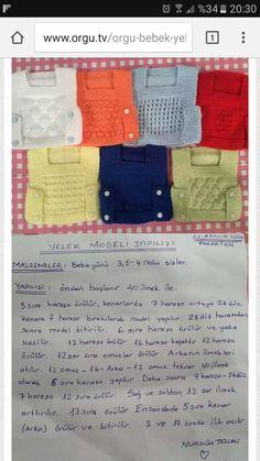 Bebek yeleği Baby Knitting, Crochet Baby, Crochet Stitch, Double Crochet, Knitting Needle Storage, Baby Changing Pad, Quick Knits, Easy Knitting Patterns, Baby Vest