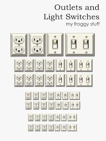 Printable Dollhouse Outlets and Light Switches.