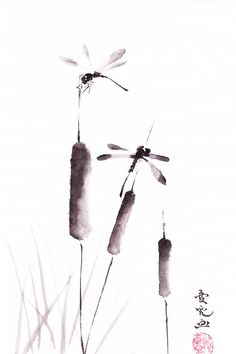 Free As The Dragonflies Painting  - Free As The Dragonflies Fine Art Print