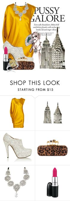"""""""Self Esteem"""" by kortneybreanne ❤ liked on Polyvore featuring Lanvin, Alaïa, Yves Saint Laurent, MAC Cosmetics, dress, riki lindhome and clutch"""