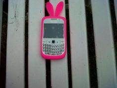 pink blackberry bunny case