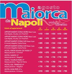 Maiorca a d agosto da Napoli da € 390