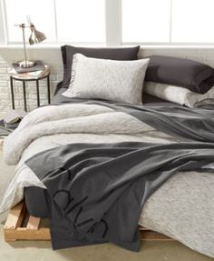 Calvin Klein Modern Cotton Strata Full/Queen Duvet Cover $159.99 Calvin Klein's Modern Cotton Print duvet cover is inspired by the brand's classic Modern Cotton underwear, made from the same comfortable cotton/modal knit with a chic waistband design for added flair to your bedroom. These super sensuous sheets have been created in a variety of rich solids and playful prints for a mix and match style designed by Calvin Klein and curated by you.