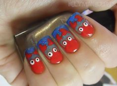 Holy Manicures: Beachy Crab Nails.
