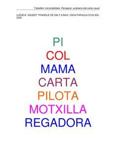 Activitats de lectura eficaç Calm, Good Handwriting, Phonological Awareness, Dyslexia, Initials, Preschool