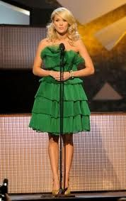 love her. and her cool green dress.