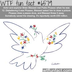 Peace Dove by Pablo Picasso - WTF fun facts