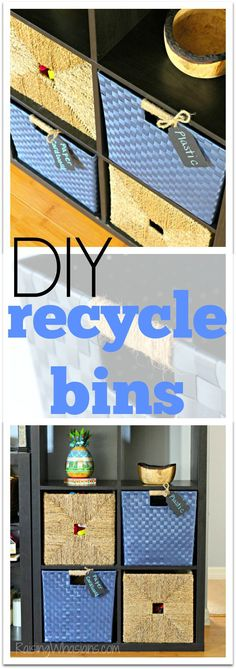 How to Make Recycling Fun for Kids + DIY Recycle Bins | Tips for teaching kids about recycling, and easy Recycle Bins for the home tutorial (ad)