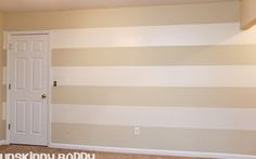 Painting Stripes on Walls. #PaintingTip