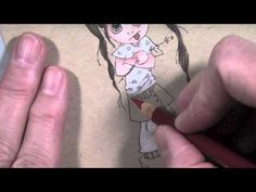 TT: Coloring and Shading a Saturated Canary Stamp with Color Pencils - YouTube