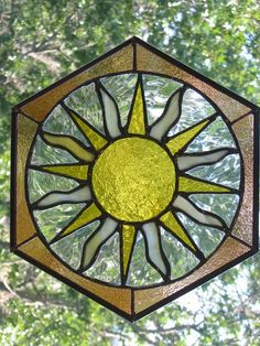 "Stained Glass Suncatcher ""The Sun"""