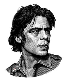 Benecio Del Toro portrait on Behance in Illustration Engraving Art, Engraving Illustration, Love Illustration, Creative Illustration, Portrait Illustration, Graphic Design Illustration, Best Portraits, Creative Portraits, Caricatures