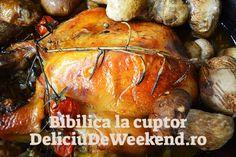 Reteta de bibilica la cuptor cu ciuperci se pregateste in vasul roman pentru ca rumenirea sa se faca cat mai uniform. Mai, Turkey, Food, Turkey Country, Eten, Meals, Diet