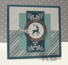 Mojo Monday Challenge #321 – A touch of frost Stampin Up, Stylish Stripes Embossing Folder, Warmth and Wonder, Winter Frost dsp, Silver Foil