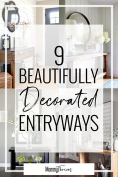 9 Entryway Table Ideas That Are Gorgeous - Mommy Thrives Entryway Ideas and Decor - Decorating an Entryway Table - Farmhouse, Rustic, Modern, Scandinavian, and Traditional Decor Styles - 9 Beautifully Decorated Entryways Rustic Entryway, Modern Entryway, Modern Decor, Rustic Decor, Entryway Ideas, Rustic Modern, Modern Boho, Rustic Table, Small Entryway Decor