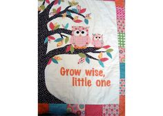 Baby Owl quilt by polkadotquilting on Etsy