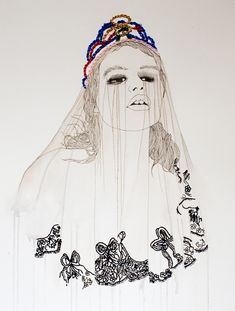 Beautiful fusion of embroidery and illustrations by Singapore-based artist Izziyana Suhaimi.