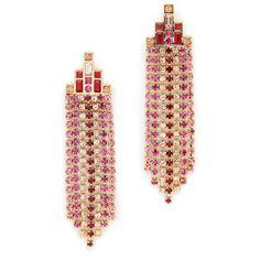 Lizzie Fortunato Dance Hall Fringe Beads Pearl Earrings Green Multi ItB3Ia