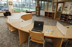 Laptop workstations - very cool!  Plainfield-Guilford Township Public, Plainfield, IN - Demco Interiors