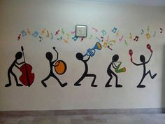 foundation pakistan yasmeen rasheed school public adkins jannah paint music room wall by Music Room Wall Paint by Yasmeen Rasheed Foundation Public School Pakistan Jannah Adkins You can find Pakistan and more on our website Mural Art, Wall Murals, Wall Painting Decor, Simple Wall Paintings, Creative Wall Painting, Easy Paintings, Painting Art, School Murals, School Painting
