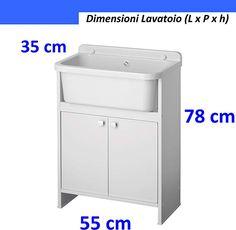 Negrari 5001PKC Lavatoio Salvaspazio, Bianco, 55 x 35 cm: Amazon.it: Fai da te