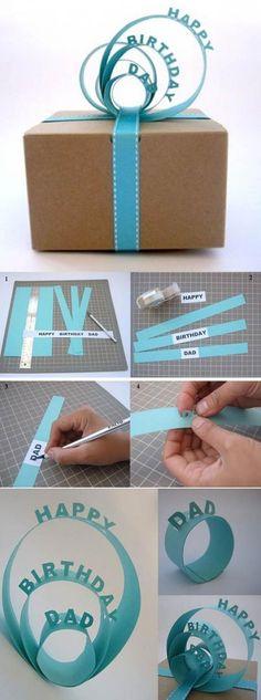 Fabriquez des Jolis rubans pour vos papiers cadeaux.