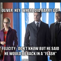 Another pun but for Flash the new up and coming CW show #Flash #Arrow