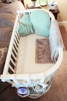 Breathable /& Hypoallergenic Portable Crib Baby Lounger and Baby Nest Perfect for Co Sleeping Baby Bassinet Soft Cotton Cosleeping Baby Bed Premium Quality and Suitable from 0-8 Months Gray