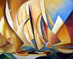 charles sheeler paintings   Charles Sheeler, Pertaining to Yachts and Yachting, 1922