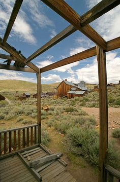 Bodie, California is a genuine California gold-mining ghost town which is now called Bodie State Historic Park.  The town is named for Waterman S. Body (William Bodey), who had discovered small amounts of gold in hills north of Mono Lake.
