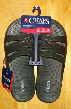 dc03893f06e8 Men s Chaps Performance Slide Sandals Lightweight Black Size XL (12-13) NWT   Chaps  Slides