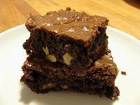 Brownies med valnøtter - seige. #brownies #cake #kake #chocolate #sjokolade #valnoett #walnut