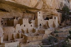 The Cliff Palace is the largest cliff dwelling in North America. The structure built by the Ancient Pueblo Peoples is located in Mesa Verde National Park in their former homeland region.(http://en.wikipedia.org/wiki/Cliff_Palace)