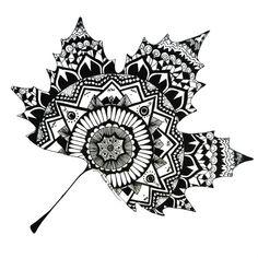 Mandala leaf print