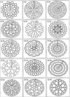 Se você está procurando gráficos redondos de crochê chegou ao lugar certo! Adoro passar gráficos para as fanáticas do crochê, porque sei como é difícil achá-los de forma barata, e justamente para isso temos a internet, para passar coisas bacanas entr