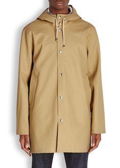 Stockholm sand rubberised raincoat - Men