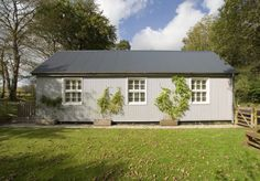Victorian Counting House on Dartmoor - refurbished with new metallic silver steel cladding