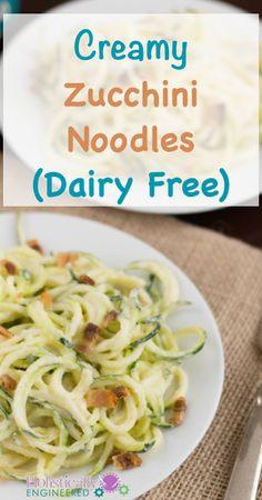 Creamy Zucchini Noodles For all the zucchini I have!